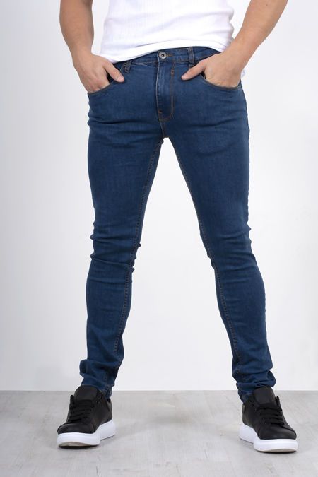 Blue Basic Skinny Fit Jeans