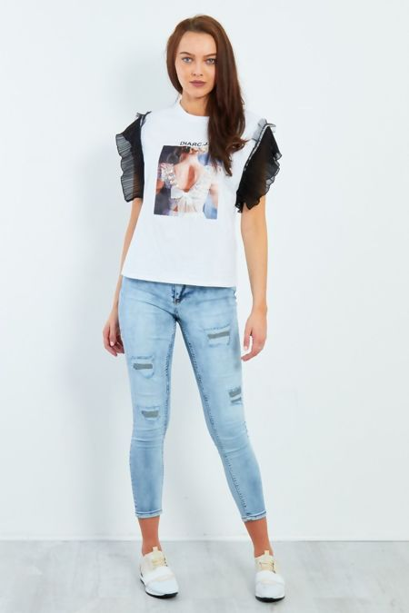 Distressed Acid Wash Jeans