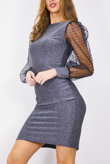 Dobby Mesh Gleam Dress