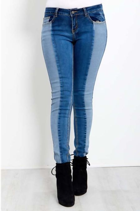 Double Shade Skinny Fit Jeans