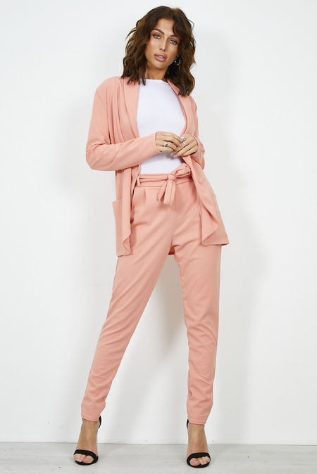 Dusty Blazer and Pegged Trouser Set