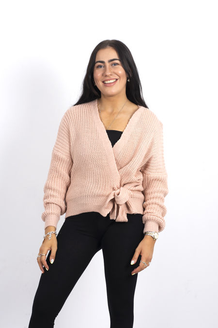 Dusty Knitted Wrap Cardigan
