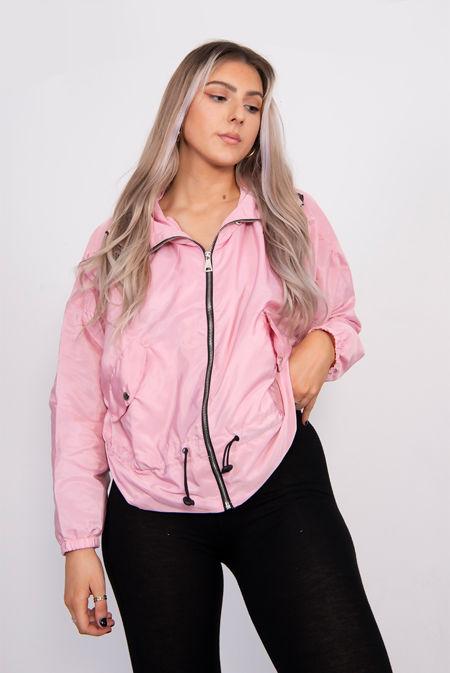 Dusty Pink Hooded Festival Jacket