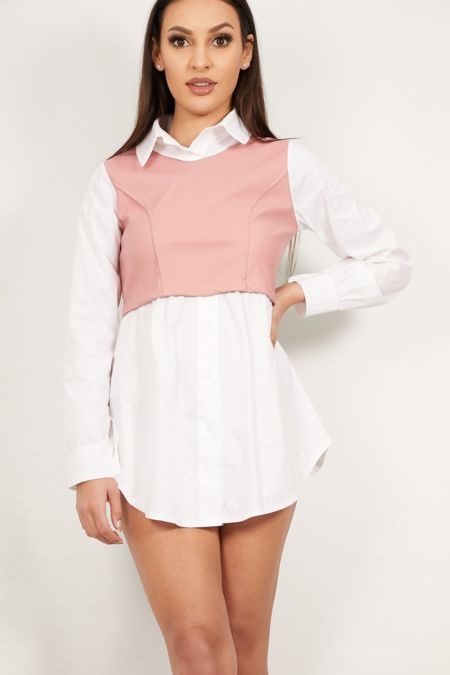 Dusty PU Bandeau Shirt