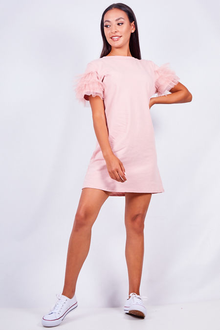 Tull Sleeve T-shirt Dress