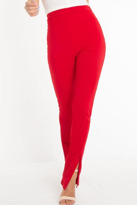 Flared Split Front Trouser