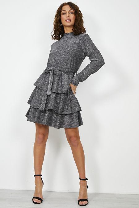 Frill Knotted Gleam Dress