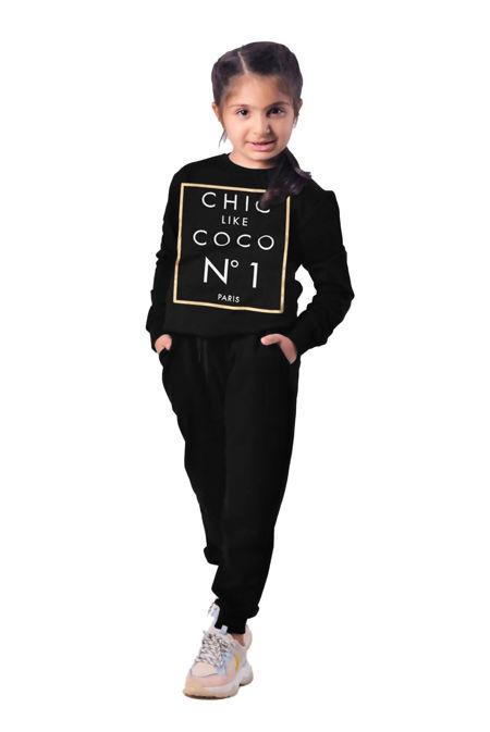 Girls Black COCO Loungewear Set