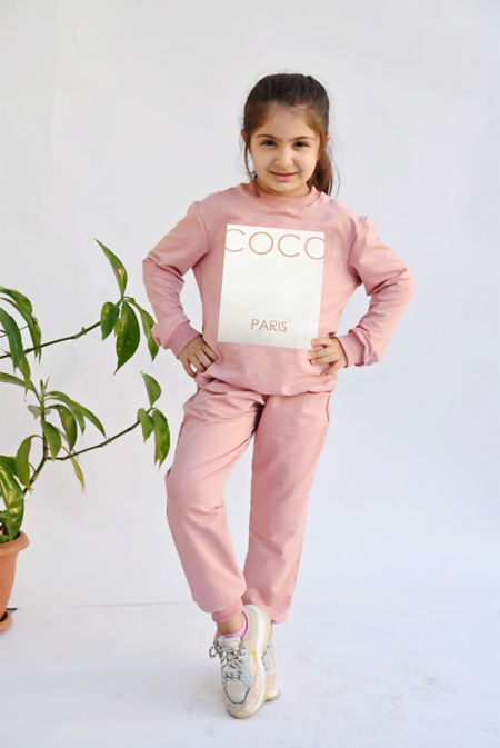 Girls Khaki COCO Loungewear Set