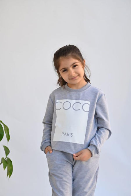 Girls Black COCO Loungewear Set