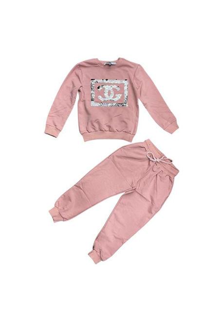 Girls Dusty Sequin CG Logo Loungewear Set