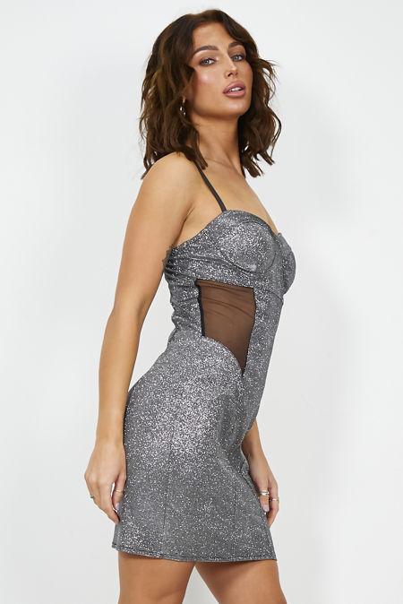 Gleamed Bodycon Dress
