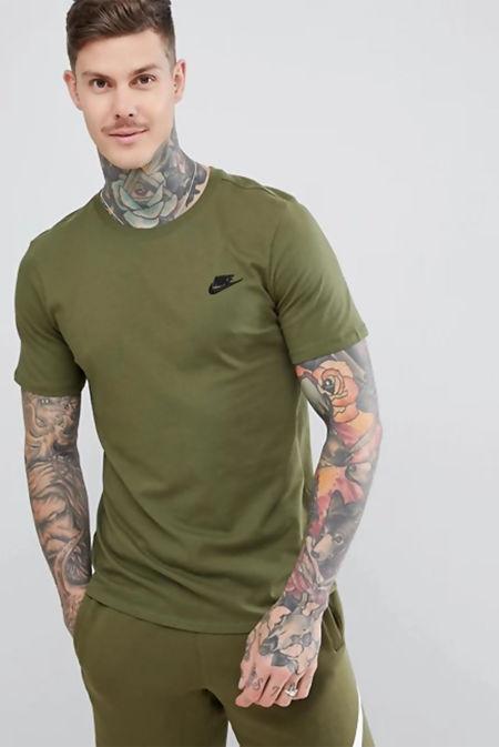 Green Nike Club T-Shirt