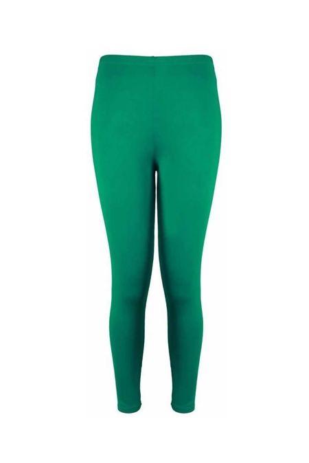Green Plain Stretchable Viscose Leggings