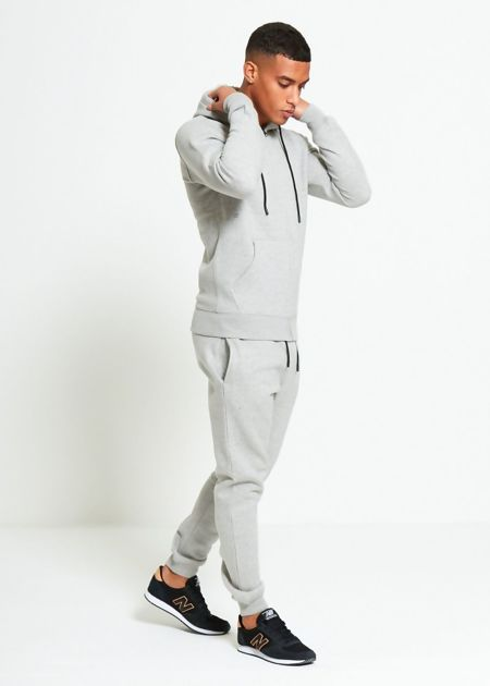 Grey Block Hooded Tracksuit