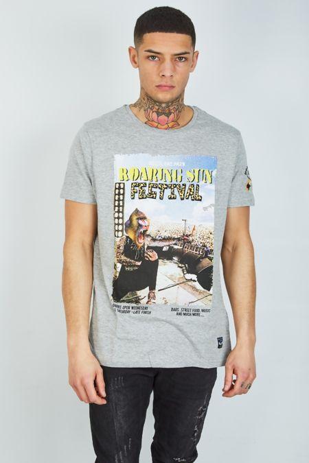Grey Concert Roaring T-Shirt