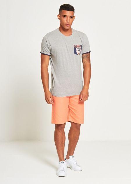 Grey Face Pocket T-Shirt