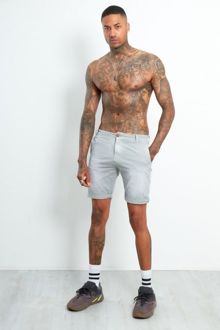 Grey Fade Wash Shorts