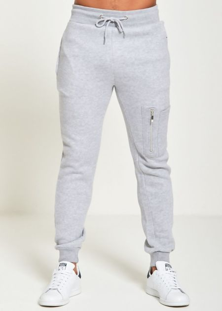 Grey Skinny Fit Jogging Bottom