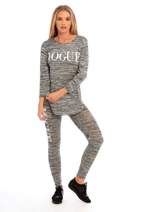 Grey Vogue Slogan Tracksuit