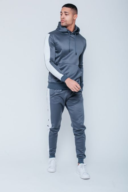 Grey White Tape Pouch Pullover Tracksuit Pre-Order