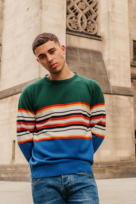 Two Tone Striped Jumper