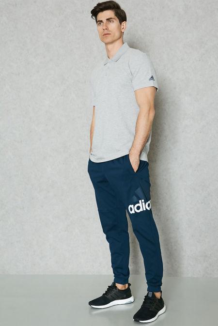Grey Adidas Essential Base Polo