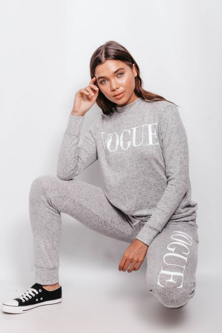 Grey Back To Basic Vogue Skinny Tracksuit