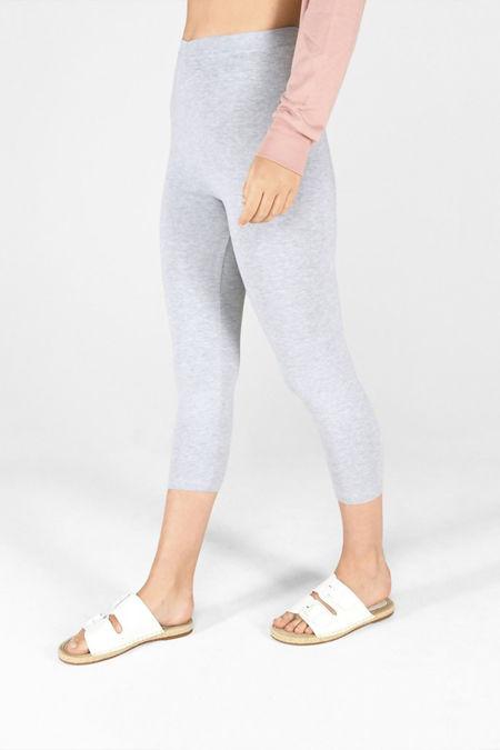 Grey Cropped Leggings