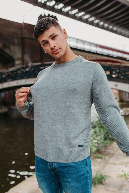 Grey Fine Knit Jumper