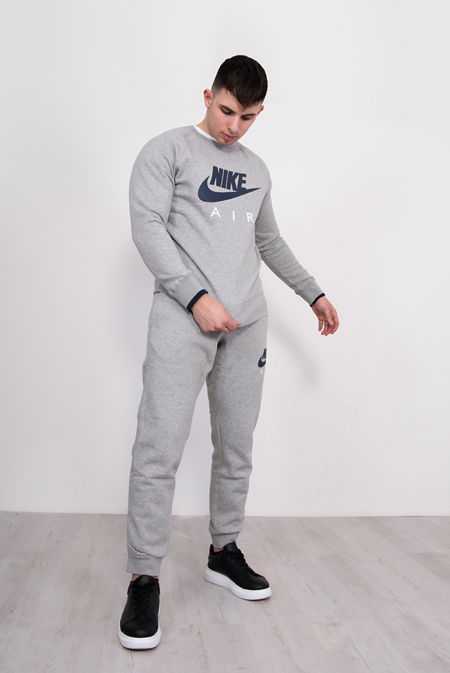 Grey Nike Air AW77 Heritage Fleece Tracksuit