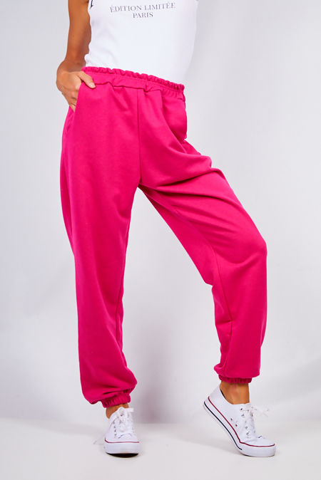 Hot Pink Oversized Joggers