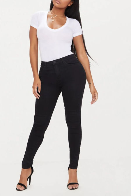 Black Shape Stretch Denim Skinny Jeans