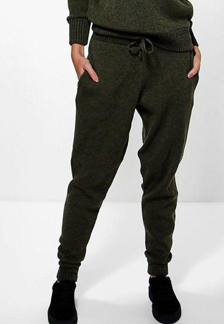 Khaki Fine Knitted Loungewear Bottom