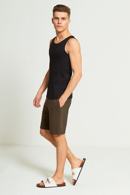 Khaki Jersey Sweat Shorts