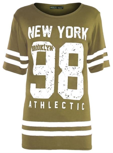 Plus Size Khaki New York 98 Oversize T-Shirt