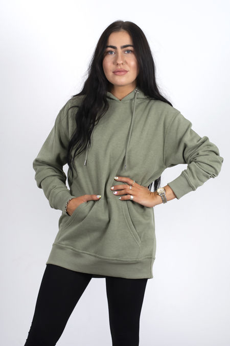 Khaki Oversized Pullover Hoodie