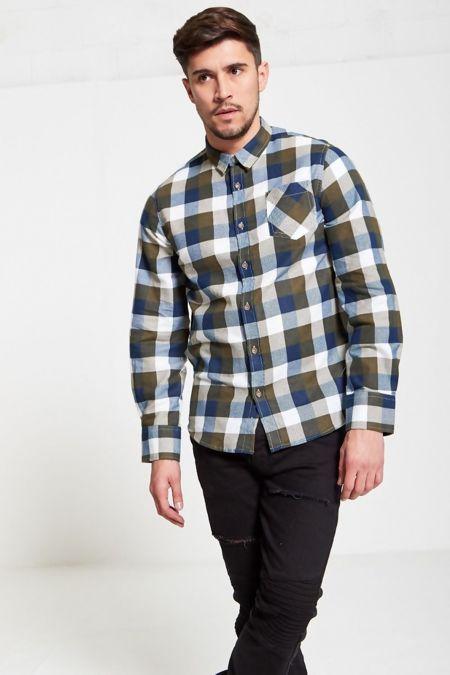Khaki Persuader Bold Checked Shirt