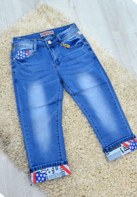 Kids Denim Cropped Capri Jeans