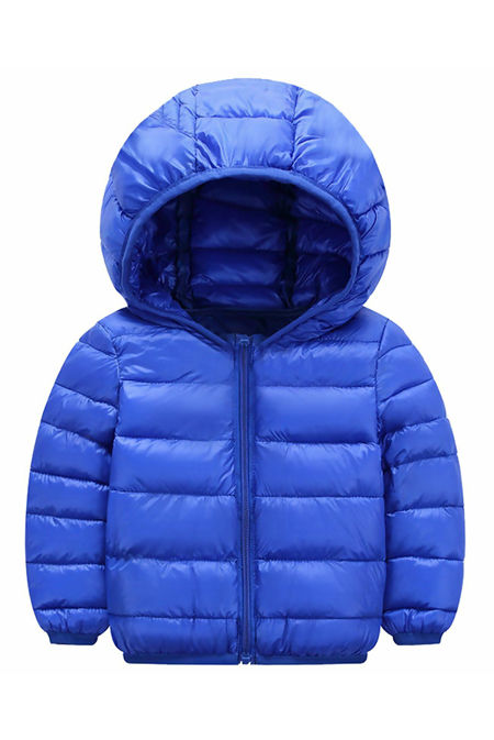 Kids Royal Hooded Puffer Jacket