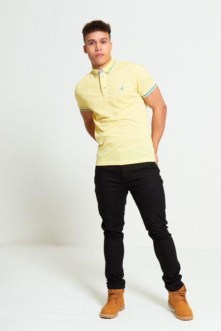 Lemon Bird Print Polo T-Shirt