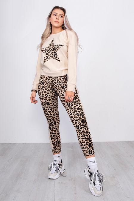 Leopard Print Star Lounge Tracksuit
