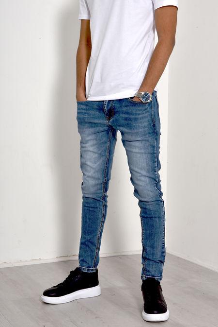 Light Denim Stonewash Five Pocket Jeans