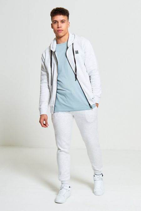 Mens White D-Rock Ribbed Panel Tracksuit