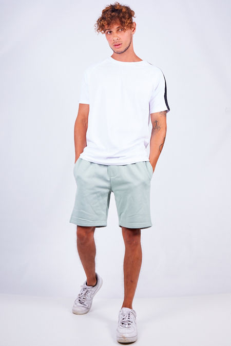 Mint Green Jersey Sweat Shorts