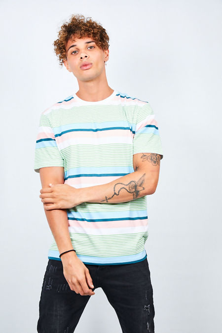Mint Multi Stripe T-Shirt