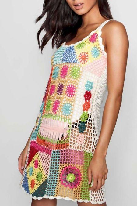 Multi Colour Crochet Dress