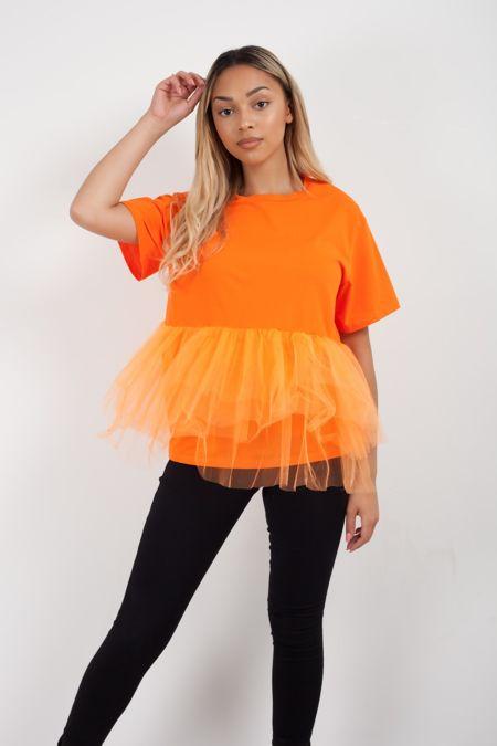 Mesh Hem Layer T-Shirt