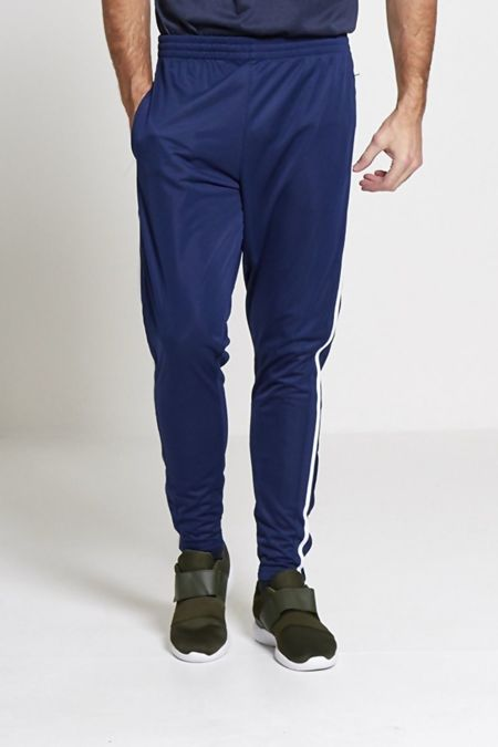Navy Athleisure White Striped Jogging Bottoms