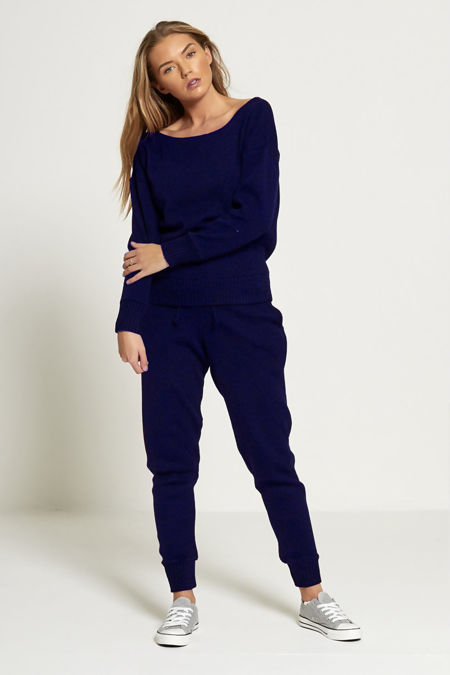 Navy Lounge Wear Knitted Set